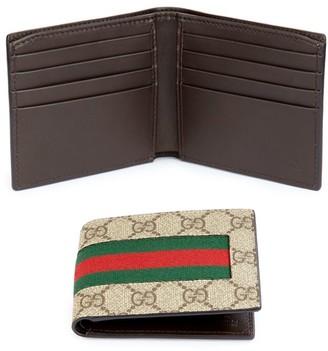 Gucci GG Supreme Canvas Web Bi-Fold Wallet
