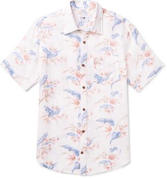 NN07 Deon Slim-Fit Floral-Print Linen Shirt - Men - Neutrals