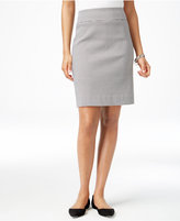 Charter Club Gingham-Print Pull-On Skort, Only at Macy's