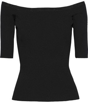 Iris & Ink Lollie Ribbed-knit Top