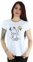 Peanuts Women's Big Snoopy And Woodstock T-Shirt