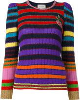 Gucci striped long sleeve jumper - women - Polyamide/Cashmere/Wool/Metallic Fibre - XS