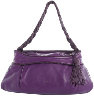 Moschino Purple Leather Handbags