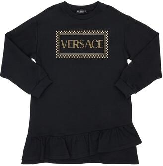 Versace Embellished Cotton Sweat Dress