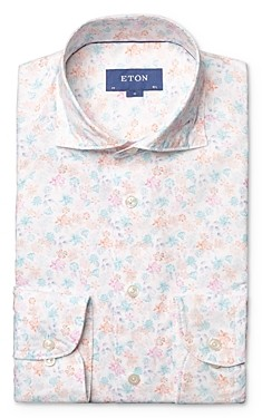 Eton Floral Print Slim Fit Dress Shirt