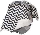 Jolly Jumper Infant Car Seat Veil - Black/White Chevron