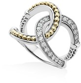 Lagos 18K Gold and Sterling Silver Enso Interlocking Ring with Diamonds