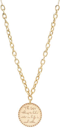 """Chicco Zoe 14k """"The Best Thing to Hold"""" Pendant Necklace"""
