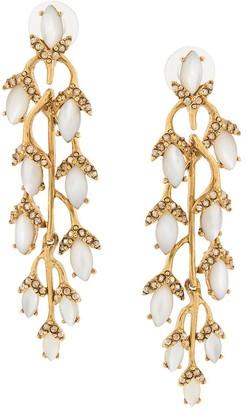 Oscar de la Renta Hanging Branch Earrings