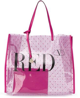 RED Valentino RED(V) Pointote logo tote bag