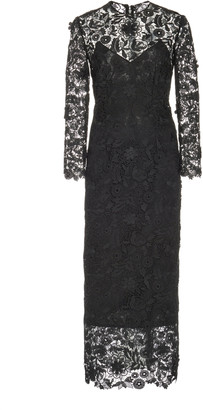 Carolina Herrera Lace Sheath Dress
