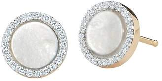 Mother of Pearl MATEO 14K Yellow Gold Mother-of-Pearl & Diamond Stud Earrings