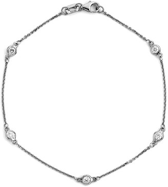 LeVian Suzy Diamonds Suzy 14K 0.15 Ct. Tw. Diamond Station Bracelet