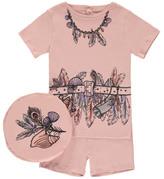 Stella McCartney Sale - Pyjama T-Shirt Short Trompe L'il Andrea Dusty Pink