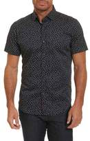 Robert Graham Men's Miki Tailored Fit Print Short Sleeve Sport Shirt