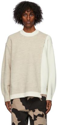 Ambush Off-White Overlap Sweater