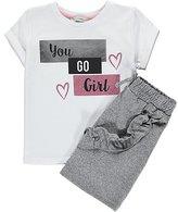 George T-Shirt and Ruffled Skirt Set