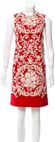 Dolce & Gabbana Embroidered Floral Shift Dress