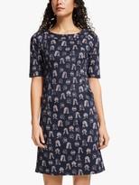 Boden Iona Detail Dress, Navy