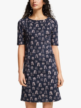 Boden Iona Detail Dress, Navy
