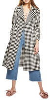 Topshop Gingham Double-Breasted Trench Coat