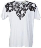 Marcelo Burlon County of Milan White Cotton Olimpia T-shirt With Snakes Print