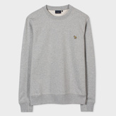 Paul Smith Men's Light Grey Marl Zebra-Logo Loopback-Cotton Sweatshirt