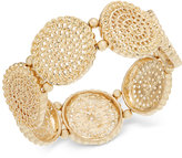 INC International Concepts Gold-Tone Coiled Disc Stretch Bracelet, Only at Macy's