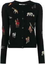 Alice + Olivia Alice+Olivia - animal patch cardigan - women - Cotton/Polyester/Spandex/Elastane - S