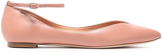Sigerson Morrison Leather Point-toe Flats