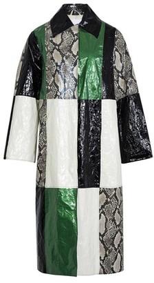 Stand Python print patchwork coat