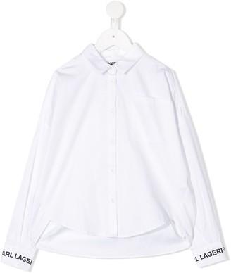 Karl Lagerfeld Paris Long Sleeve Patch Pocket Shirt