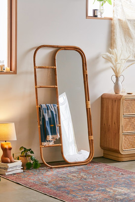 Urban Outfitters Ria Leaning Rattan Mirror
