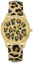 GUESS GUESS? Women's U85109L1 Leather Quartz Watch with Dial