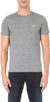 HUGO BOSS Logo-detail stretch-cotton t-shirt