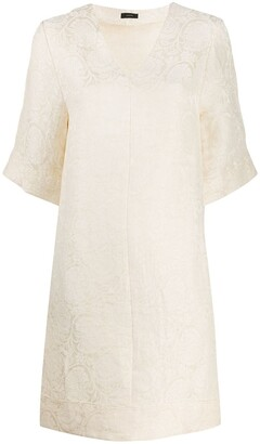Joseph Darro-Damask jacquard dress