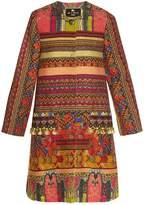 Etro Pompom-embellished woven coat