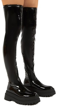 Public Desire Uk Disclosure Patent Over The Knee Thigh High Chunky Boots