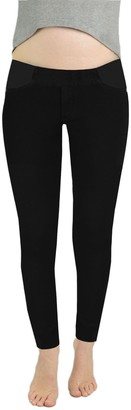 James Jeans Women's Twiggy Under Belly Maternity Legging Jean in Black Swan 26