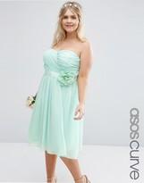 Asos WEDDING Chiffon Midi Dress with Corsage