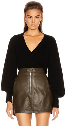 Marissa Webb Tawny V-Neck Pullover in Black | FWRD