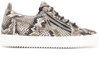 Giuseppe Zanotti Snakeskin Print Sneakers
