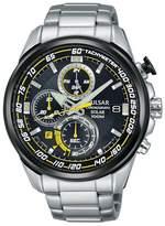 Pulsar Black Dial Solar Powered Wrc Chronograph Bracelet Watch Pz6003x1