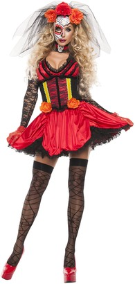 Starline Women's Cinched Day of The Dead 3 Piece Costume Dress Set