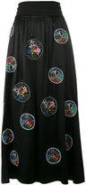 Fendi embroidered flower skirt - women - Silk/Polyester/Viscose/glass - 40
