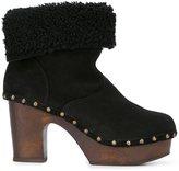 L'Autre Chose shearling platform boots - women - Wool/Calf Suede/wood/rubber - 37