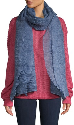 Saachi Textured Ruffle-Trimmed Scarf