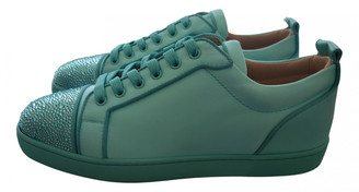 Christian Louboutin Louis Green Leather Trainers