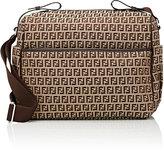 Fendi Zucca-Print Diaper Bag-BROWN