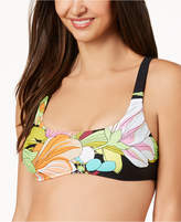 Trina Turk Bouquet Floral-Print Bralette Bikini Top